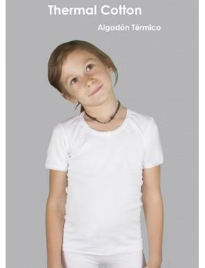 Pack de 3 Camisetas niña Thermal coton manga corta