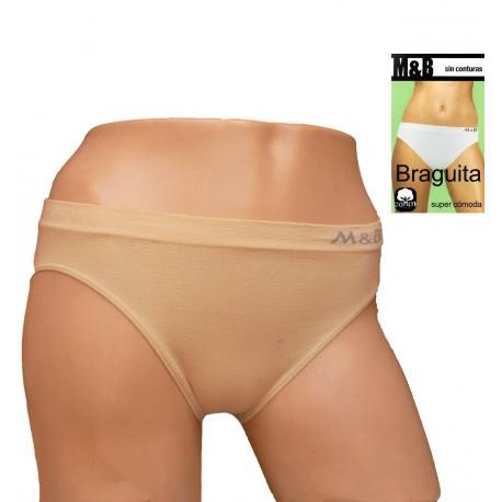 Braga M&B en algodón elastico sin costuras laterales
