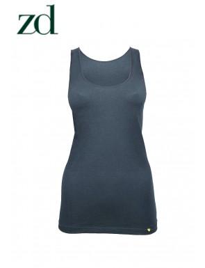 Camiseta de mujer tirante ancho en Hilo de Soja ZD