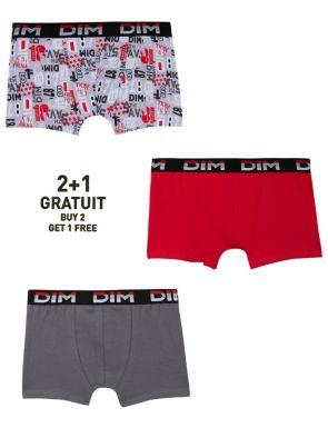 Calzoncillos Boxer moda joven Dim pack de 2+1 gratis